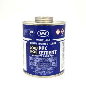 Whitlam Clear Low VOC PVC Heavy Bodied Cement 32oz