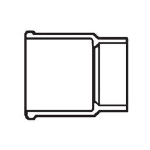 "4"" DWV PVC Hub Adapter - CISP Spigot D123-040"