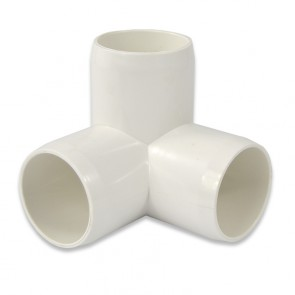 "1-1/4"" 3 Way Connector - Furniture Grade PVC"