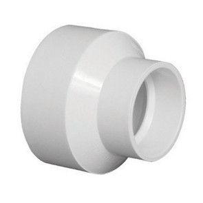 """8"""" x 4"""" DWV PVC Reducer Fitting D102-582"""