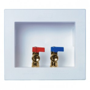 "DU-ALL™ Dual Drain Washing Machine Outlet Box - 1/2"" PEX"