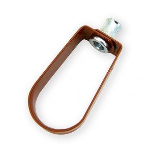 """1-1/4"""" Copper Epoxy Standard Duty Loop Hanger (3100-0125PC)"""