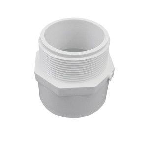 """2-1/2"""" Schedule 40 PVC Male Adapter - MIPT x Socket (436-025)"""