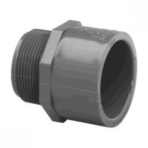 "1/2"" Schedule 80 PVC (MPT x S) Male Adapter 836-005"