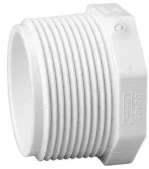 """2-1/2"""" Sch 40 PVC Plug - MIPT 450-025"""