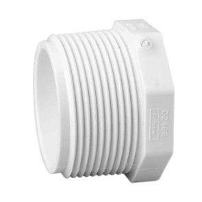 """6"""" Sch 40 PVC Plug Mipt 450-060"""