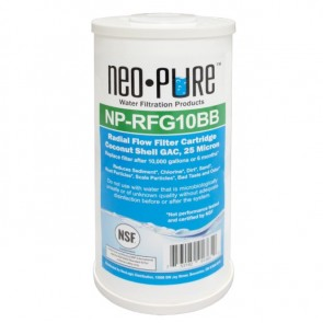 """Neo-Pure 25 Micron Coconut Shell Radial Flow Carbon Filter - 4-1/2"""" OD x 10"""" L"""