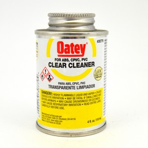 Oatey Clear Cleaner for PVC CPVC and ABS - 4 oz