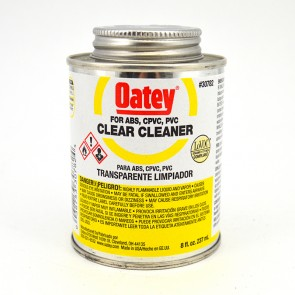 Oatey Clear Cleaner for PVC, CPVC, ABS Pipe - 8 oz