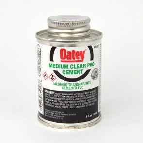 Oatey Clear PVC Cement - 4 oz.