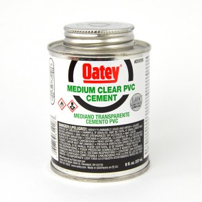 Oatey Clear PVC Cement - 8 oz.