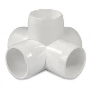 "1"" 5-Way PVC Fitting - Furniture Grade"