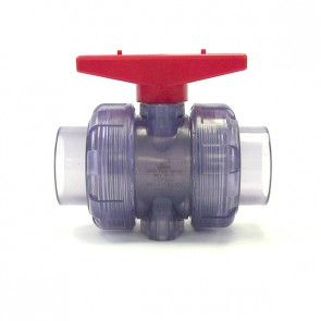 "1-1/2"" Clear PVC True Union Ball Valve"