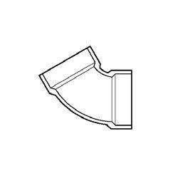 """4"""" DWV PVC 1/6 Bend D319-040"""