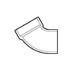 "1-1/2"" DWV PVC 1/6 Bend - Street D320-015"
