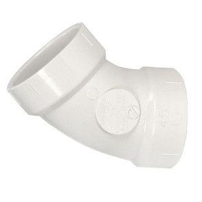 """4"""" DWV PVC 1/8 Bend D321-040"""