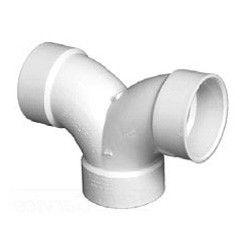 """1-1/2"""" DWV PVC Double 1/4 Bend D327-015"""