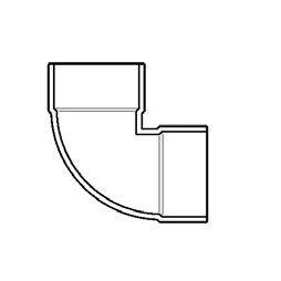 "1-1/2"" DWV PVC Vent Elbow D331-015"