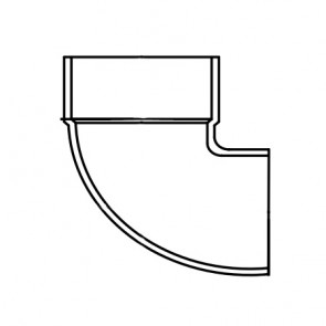 "1-1/2"" DWV PVC Vent Elbow - Street D333-015"