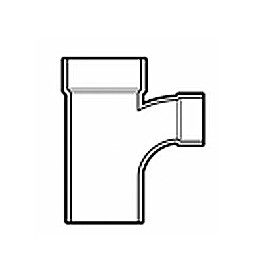 "2"" x 1-1/2"" x 2"" DWV PVC Sanitary Reducing Street Tee P404-257"