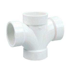 "1-1/2"" DWV PVC Double Sanitary Tee D428-015"