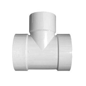 """10"""" x 4"""" DWV PVC Vent Reducing Tee (P442-624 / D441-324)"""