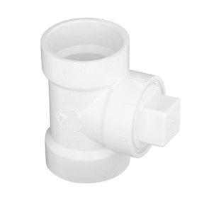 "4"" DWV PVC Cleanout Tee with C.O. Plug (P444X-040 / D443-040)"
