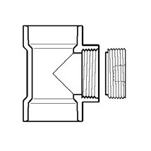 "1-1/2"" DWV PVC Flush C.O. Tee with C.O. Plug P445X-015"