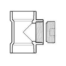 "4"" DWV PVC Flush C.O. Tee with C.O. Plug P445X-040"