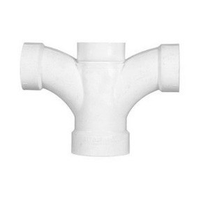 "2"" x 1-1/2"" x 1-1/2"" x 1-1/2"" DWV PVC Double Fixture Fitting P500-241"