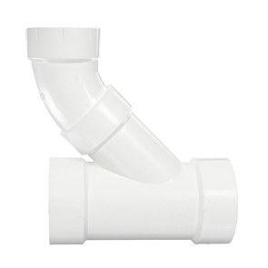 "4"" x 3"" DWV PVC Reducing Wye and 1/8 Bend (2 pc) D504-422"