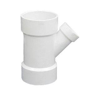 """4"""" x 4"""" x 3"""" DWV PVC Reducing Wye D601-422"""