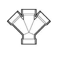 "3"" DWV PVC Double Wye D611-030"