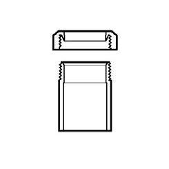 "1-1/2"" DWV PVC Tail Piece Adapter P704P-015"