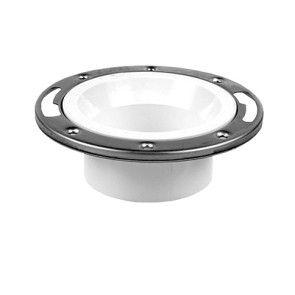 "4"" x 3"" DWV PVC Closet Flange w/ Adjustable Metal Ring D812-422"