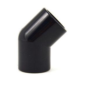 "1/2"" 45 Degree Elbow - Black PVC Furniture Grade"