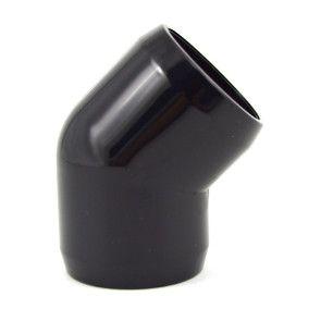 "1"" 45 Degree Elbow Fitting - Black Furniture Grade PVC"
