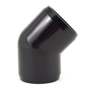 "1-1/2"" Black PVC 45 Elbow Fitting - Furniture Grade"