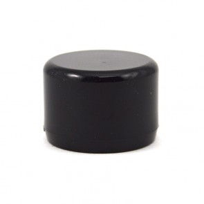 "1/2"" Black PVC Cap - Furniture Grade"