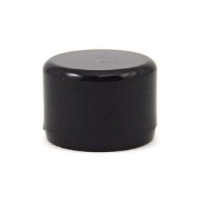 "1/2"" Black PVC Cap - Furniture Grade"