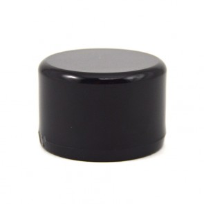 "3/4"" PVC Cap - Furniture Grade Black"