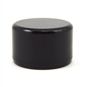 "1"" PVC End Cap - Furniture Grade Black"