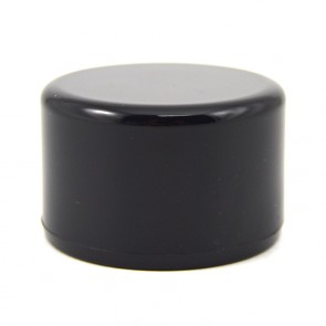 "1-1/4"" PVC Cap - Black Furniture Grade"