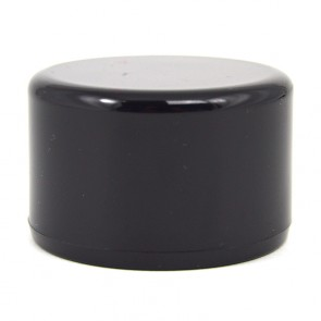 "1-1/2"" Black PVC Cap - Flat Top"