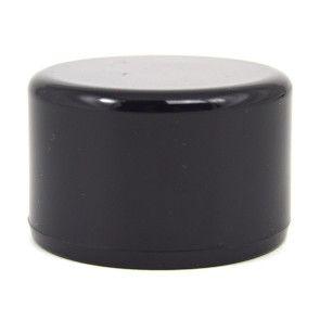 """1-1/2"""" Black PVC Cap - Flat Top"""