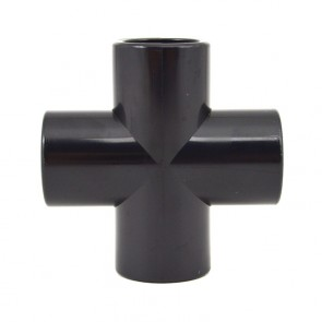 "1/2"" PVC Cross - Black Furniture Grade"