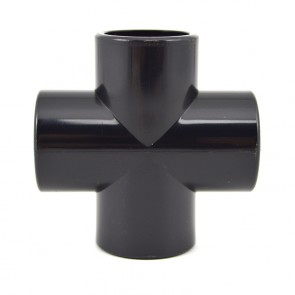 "3/4"" PVC Cross - Black Furniture Grade"