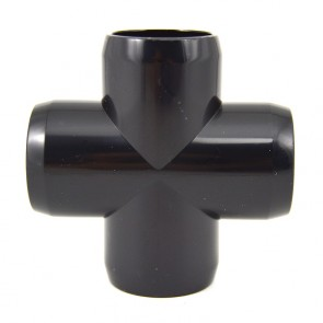 "1"" Black PVC Cross - Furniture Grade"