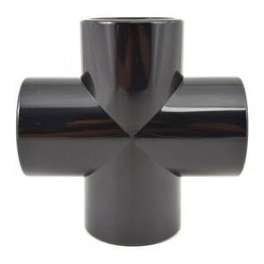 "1-1/2"" Black PVC Cross - Furniture Grade"