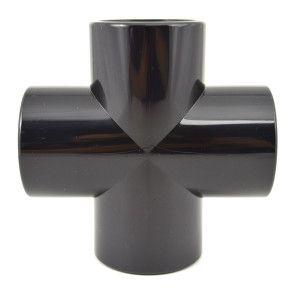 "1-1/2"" Black PVC Cross - Furniture Grade"